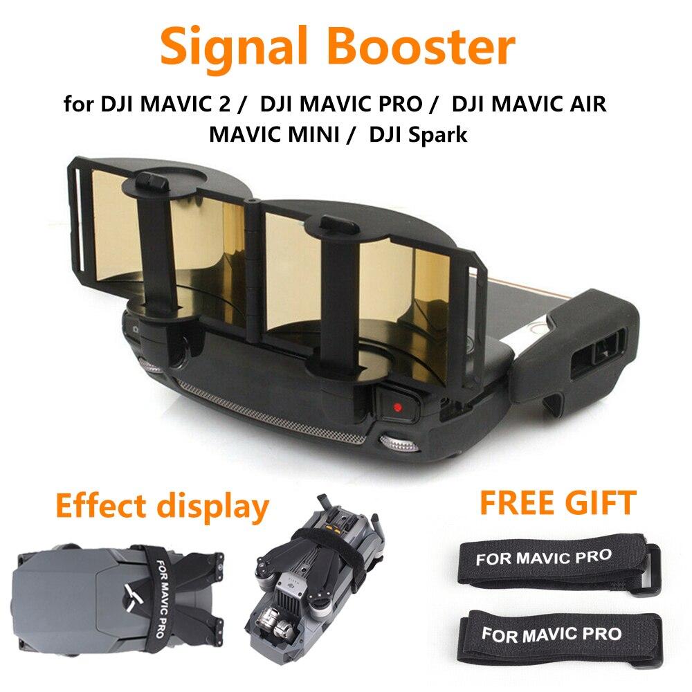 Control remoto amplificador de señal para DJI mairc Mini/2/PRO/AIR/Spark Drone antena amplificador Accesorios