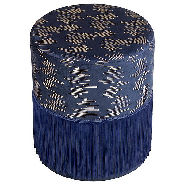 Puf Pino Azul (34X34x40 cm)
