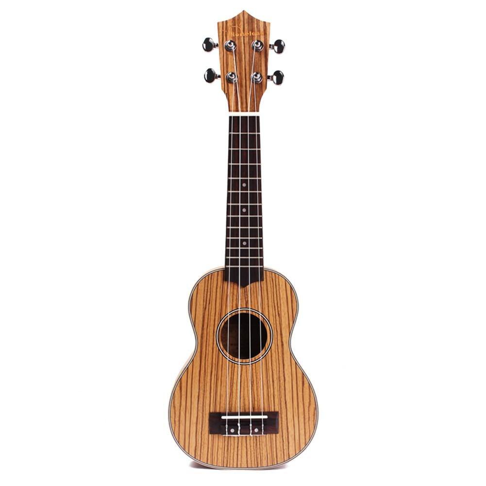 21 inch Zebrawood Ukulele Hawaiian Small Guitar Mini Guitar Acoustic Guitar Ukulele Musical Instrument