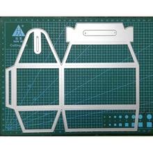 거 대 한 210*230mm 3d 상자 프레임 diy scrapbooking 장식 엠보싱 공급 업체 공예에 대 한 스텐실 금속 절단 죽을 잘라 2019