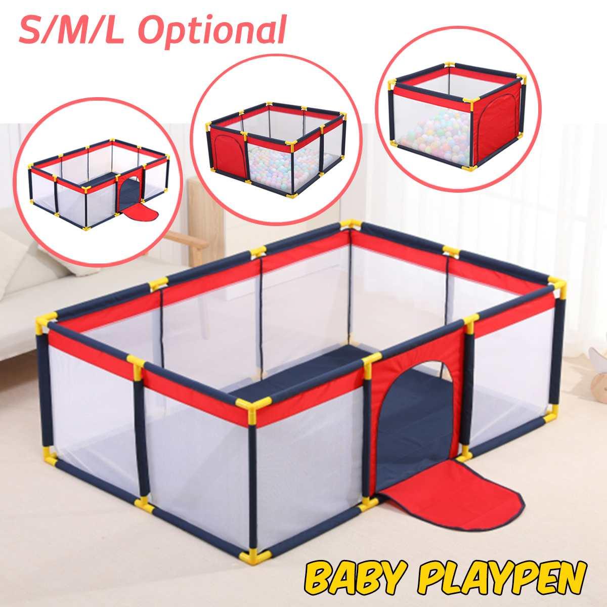 Baby Portable children's playpen baby safety fence folding play fence For Children Folding Child Safety Fence Barriers Newborn