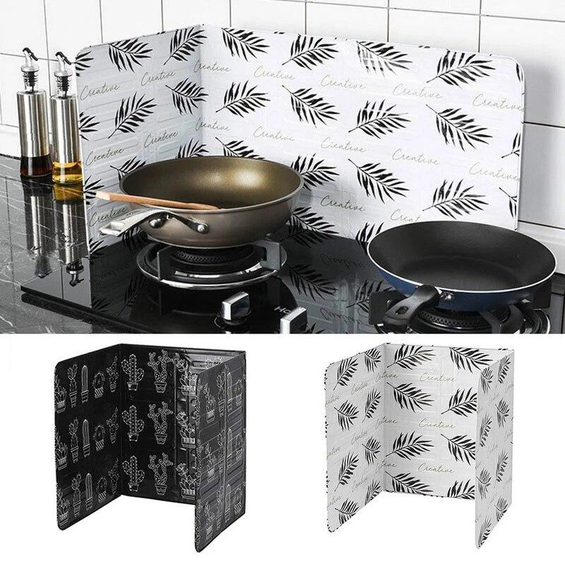 Кухонные аксессуары, экраны для защиты от брызг масла, плита из алюминиевой фольги, газовая плита, брызгозащищенная перегородка, товары для дома, кухонный инструмент для готовки