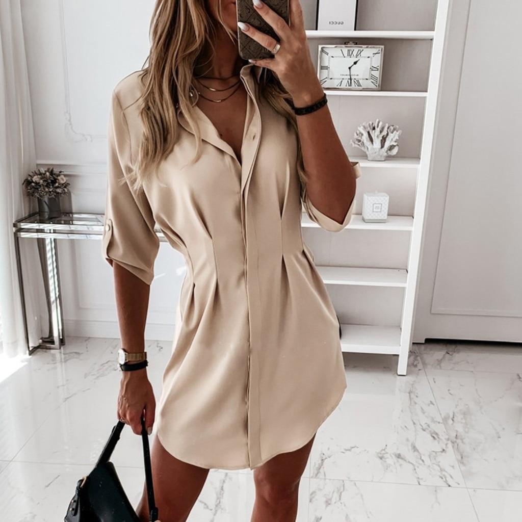 40 # blusa feminina outono manga longa ol estilo camisas das senhoras blusas trabalho casual simples camisa topos mulheres mujer de moda