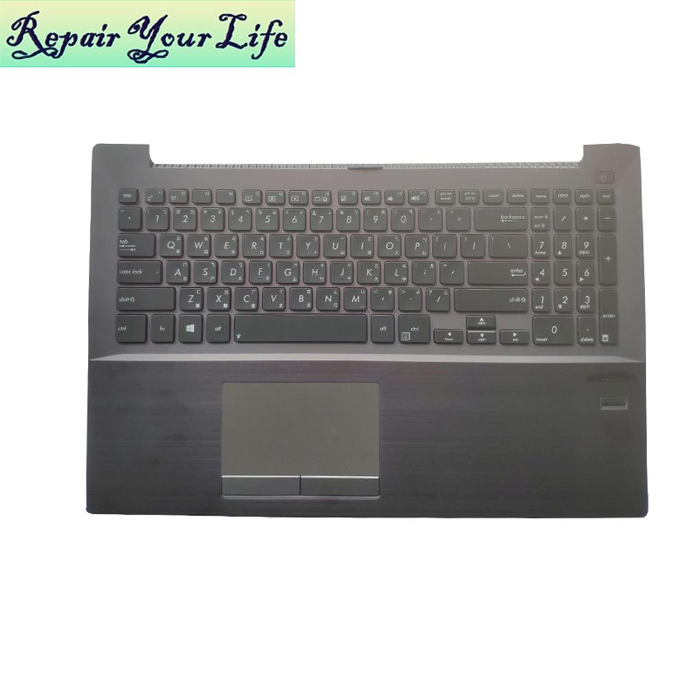 Teclado de ordenador portátil CH China para ASUS P500CA P500C 90NB00F1 R31US0 13NB00F1AM011 cubierta superior de reposamanos con retroiluminación negra con panel táctil