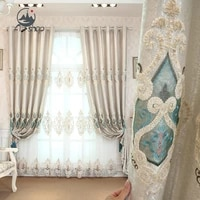 as european style luxury embroidered window high end high shading romantic and modern curtain for living dining room bedroom
