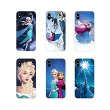 For Samsung Galaxy A3 A5 A7 A9 A8 Star A6 Plus 2018 2015 2016 2017 Punk Elsa Tattoo Princess Accessories Phone Cases Covers