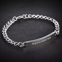 customize engraved name bracelet stainless steel personalized armband bangles for women men couple lover engagement jewelry gift