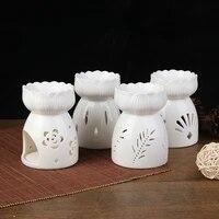 Bougeoir En Ceramique Bruleur Dencens A Lhuile Essentielle Daromatherapie Lampes de Bruleur A Huile En Porcelaine Maison Salon Decoration Neuf