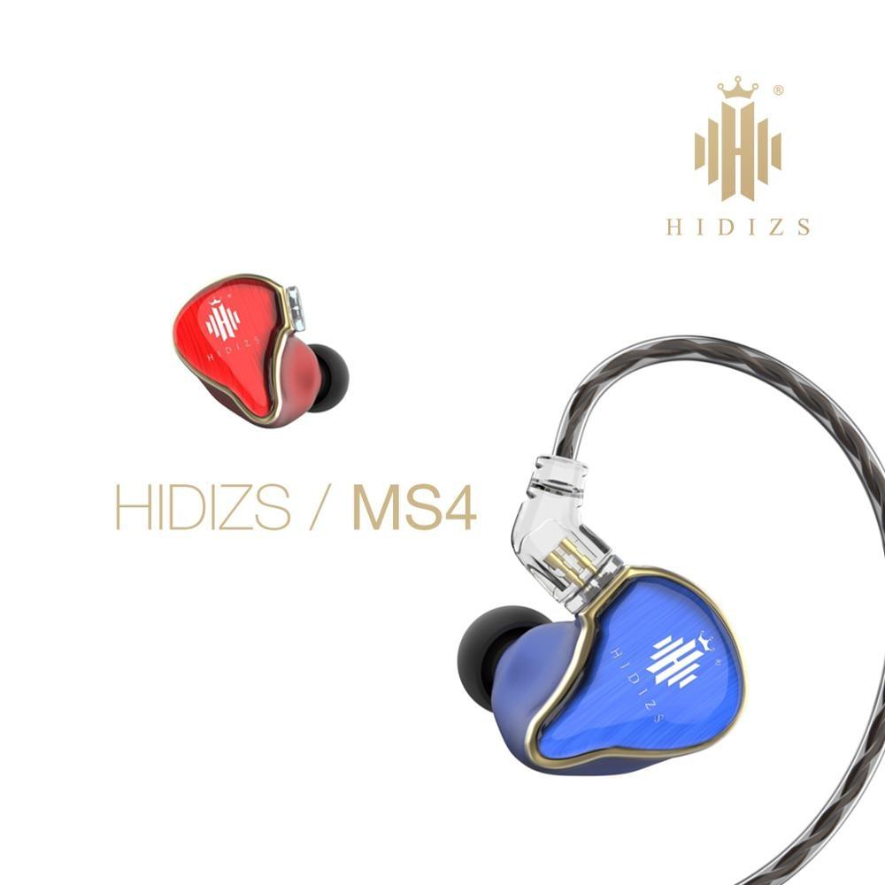 HIDIZS-سماعات أذن رياضية سلكية ، 3.5 مللي متر ، مشغل هجين HiFi MS4 (3 Knowles BA 1 DD) ، عازلة للضوضاء ، موسيقي