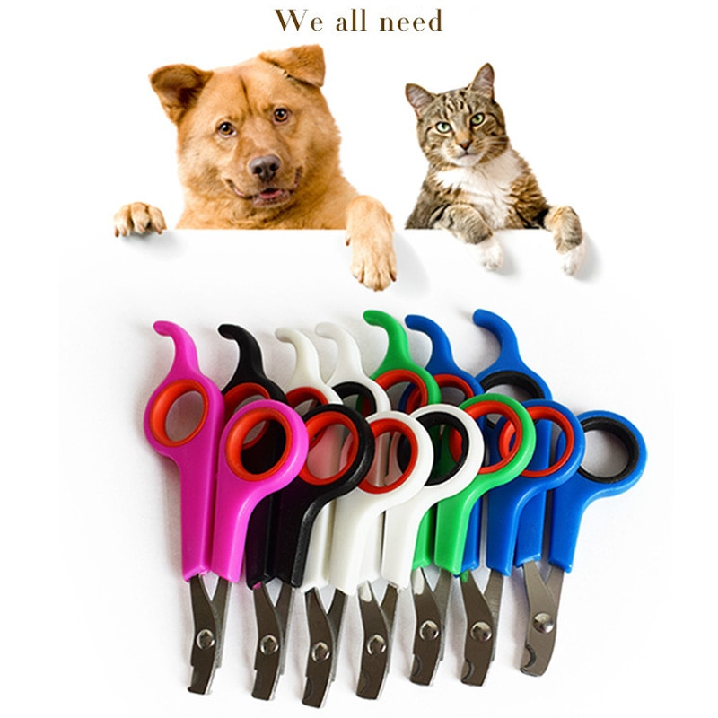 Animal de compagnie chat chien toilettage coupe-ongles griffe coupe tondeuse ongles coupe ciseaux pour animaux Nailclippers acier inoxydable avec serrure