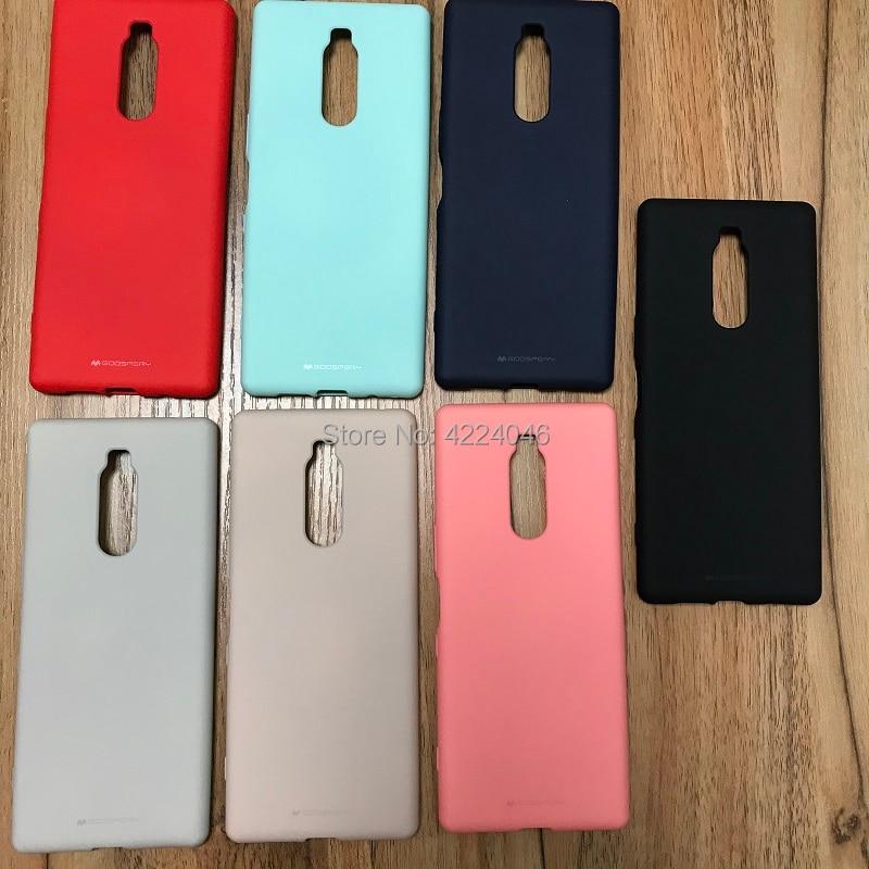 Coreia goospery silicone macio sentimento fosco tpu caso de telefone para sony xperia 1 1ii marca 2 10 5 ii j8110 j9110 bons acessórios sony