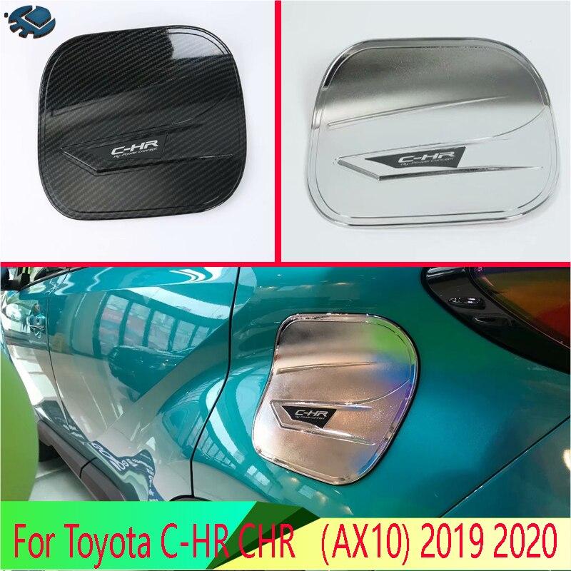 Für Toyota C-HR CHR (AX10) 2019 2020 auto Zubehör ABS Chrom tankdeckel abdeckung auto-styling trim öl tankdeckel schutz