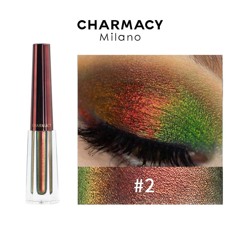 CHARMACY Duochrome Liquid Eyeshadow Chameleon Shiny Eyeshadows Liquid Easy To wear Eye Shadow Party