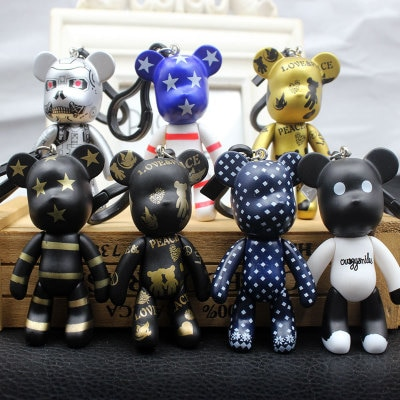 Bomgom Cartoon Popobe Gloomy Bear Momo Vinyl Keychain Keychain Bag Jewelry Pendant Child Toy Doll Key Ring Fo-K049-b