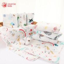 Manta envolvente Unisex para bebé, manta de muselina de algodón suave, 120x120CM, para niños y niñas