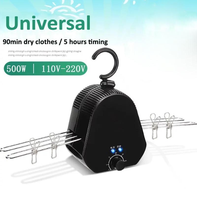 Secador de ropa inteligente, estante de secado plegable, Mini secador de secado rápido portátil, pequeña máquina de secado para el hogar, con temporizador máximo de 5h