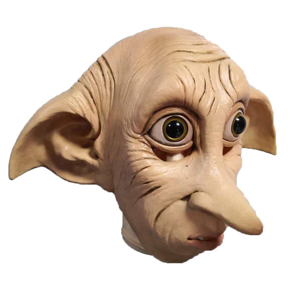 Dobby elfo máscara Cosplay Dobby máscara de látex de Halloween sombrero traje de Carnaval Accesorios