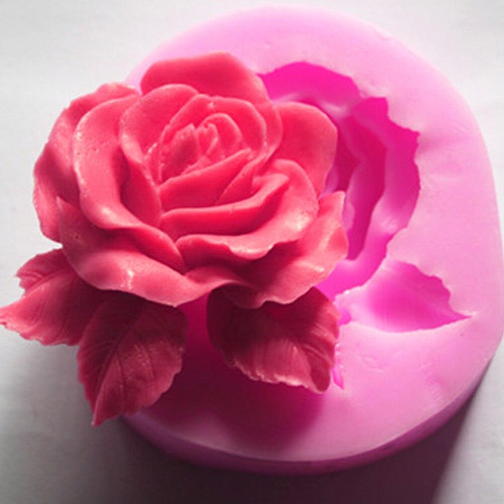 Силиконовая форма в форме розы для помадки, силиконовая форма для выпечки торта, силиконовая форма для сахара для домашней кухни