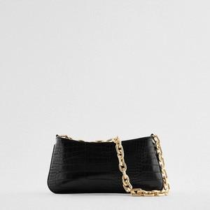 Crocodile Pattern Square Armpit Bag 2021 New Quality PU Leather Women's Designer Handbag High Capacity Shoulder Messenger Bag