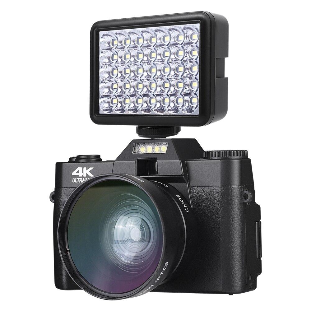 Digital Cream Vlogging Camera with Youtube 30MP Ultra HD 4K Vlog Cream  180° Rotation  Flip Screen