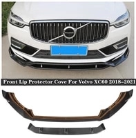 new high quality abs paint abs carbon fibre bumper front lip protector cove for volvo xc60 2018 2019 2020 2021