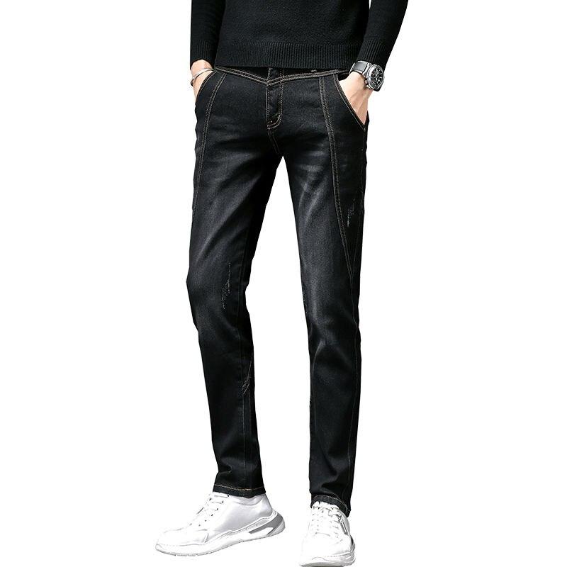 Autumn Winter Stretch Jeans Men's Korean Slim Legged Pants Men's New Fashion Brand Versatile Men's Pants