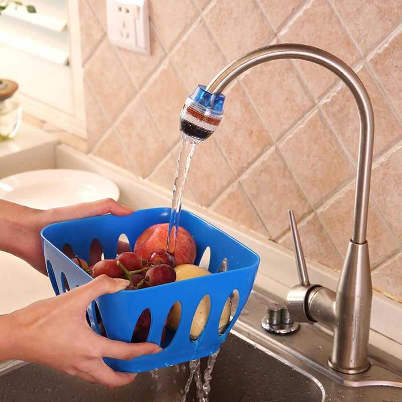 Kitchen Faucet Tap Water Purifier for Household 5 Layers Filter Activated Carbon Filtration Mini