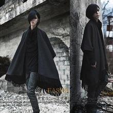 Chaleco masculino cárdigan capa chaleco personalizado novedad borla suelta disfraces hombres invierno chalecos Hip Hop chaleco táctico Streetwear