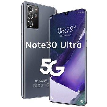 Galxy – smartphone note 30, téléphone portable 5G, plein écran 6.1 pouces, reconnaissance faciale et par empreinte digitale, double carte, 10 cœurs