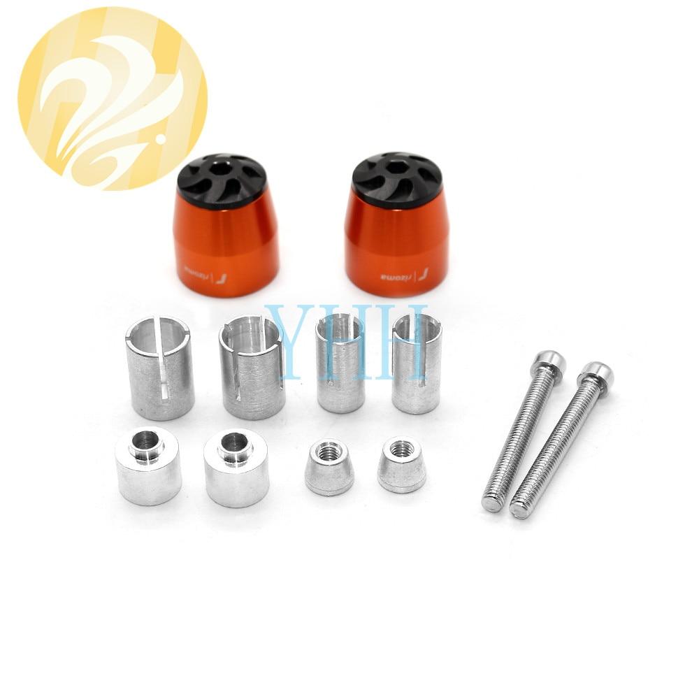 "2 * manillar CNC de aluminio de 7/8 ""(22mm) extremos de barra tapones deslizantes 8 colores para Honda Kawasaki Suzuki Yamaha KTM"