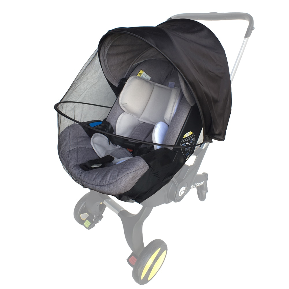 Baby Pram Accessories Mosquito Net For Doona Car Seat Stroller Infant Basket Sun Visor Cover Newborn Safety Seat Sunshade