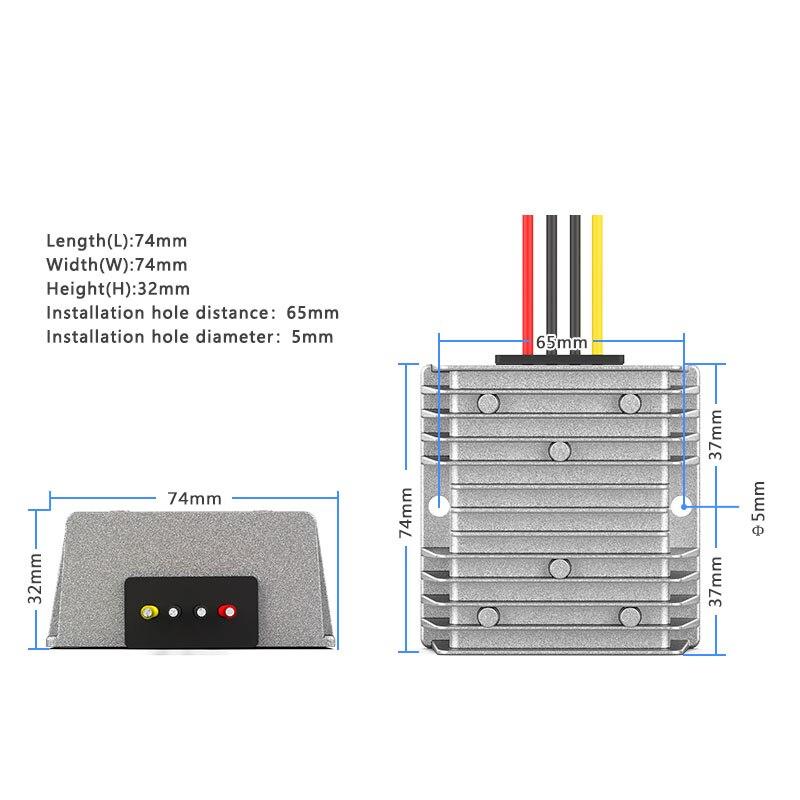 Купить с кэшбэком 36V48V to 24V DC power supply step-down converter 30-60V to 24V automotive power supply regulator module