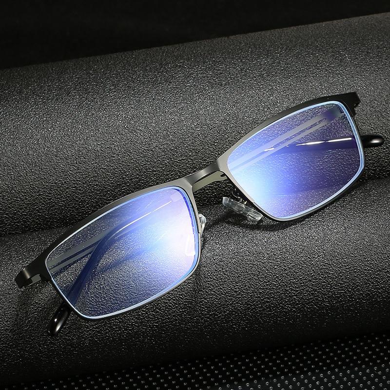 Seemfly Metal Frame Reading Glasses Men Resin Lenses Anti-fatigue Reader Eyewear 1.0 1.5 2.0 2.5 3.0 Blue Light Blocking Glasses