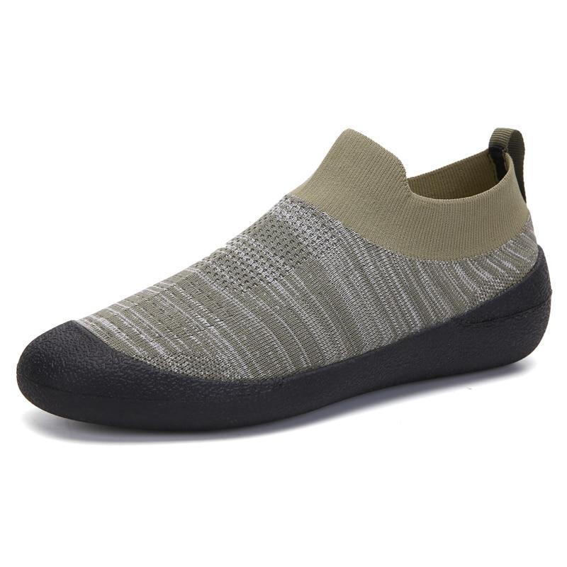 2021 New Unisex Ultralight Breathable Soft Casual Knit Sock Shoes Summer Couple Big Size Yoga Traini