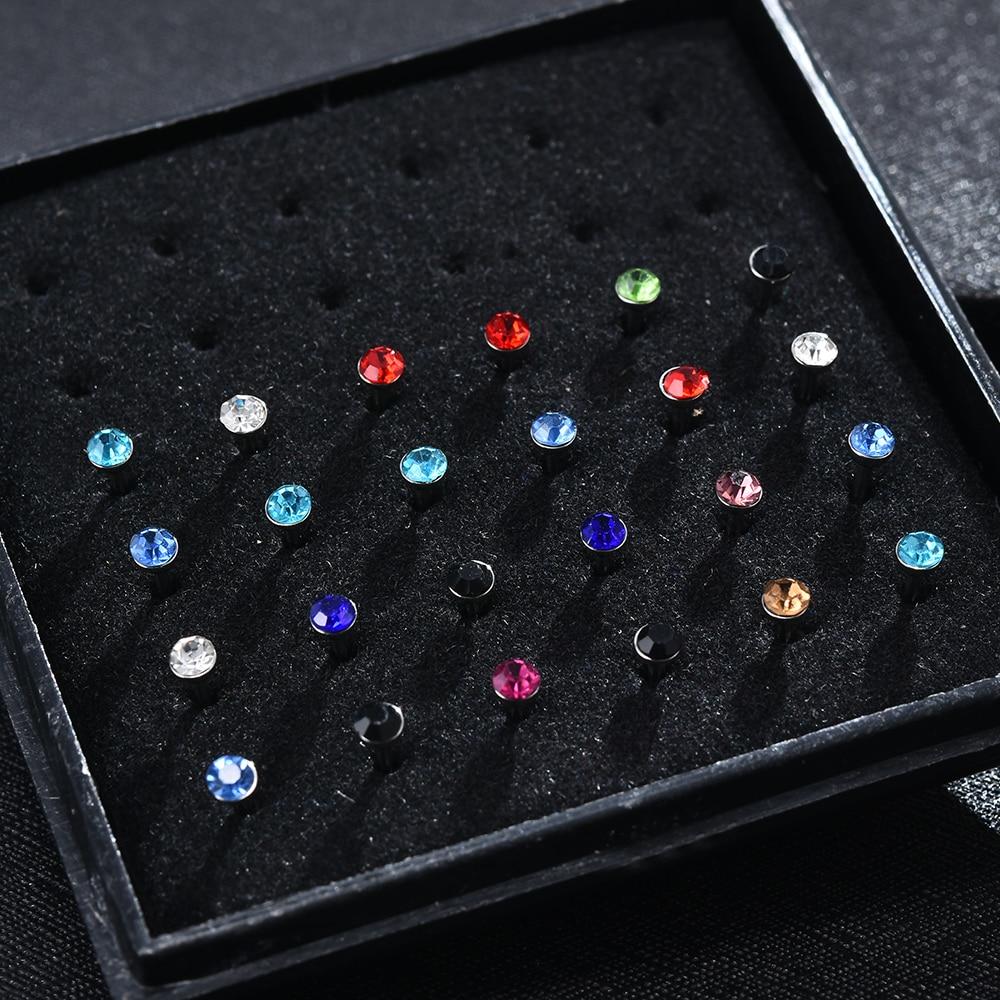Cristal corpo piercing botão cirúrgico barriga anel jóias umbigo barra nariz anel feminino acessórios