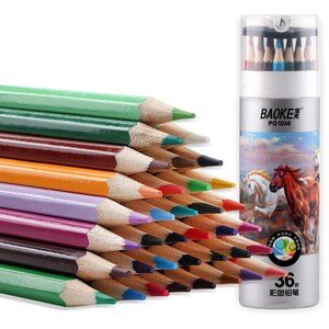 36 Pcs A Box of PO1036 Water-soluble Colored Pencils 36 Colors for Adult Painting Students Hand-painted Painting Color Lead