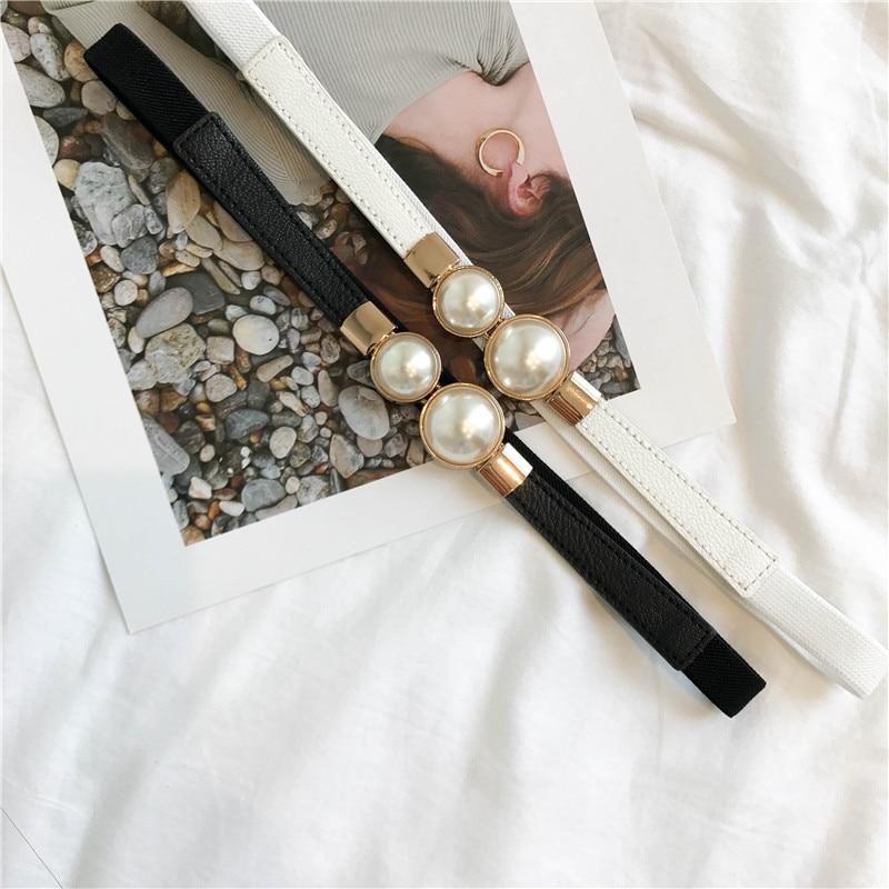 French Style Single Product Korean Style Elegance Retro Pearl Buckle Waist Seal Dress Skirt Hook Bel
