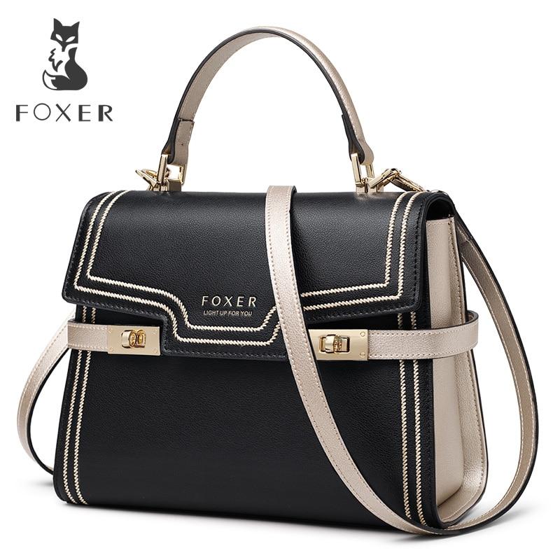 FOXER Брендовые женские кожаные сумки-мессенджеры с большой емкостью, женские роскошные стильные сумки на плечо, подарок на день Святого Валентина