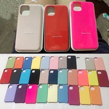 Luxury Original Silicone Case for Apple iPhone 12 Pro Max XR X XS 7 8 6s Plus 11 Mini Brand Logo Pho