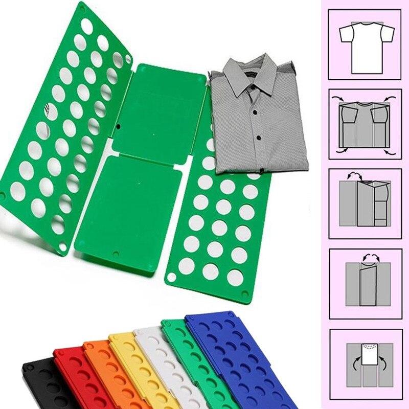 Adultos de magia carpeta T camisetas Jumpers organizador doble ahorrar tiempo de calidad rápido ropa tablero plegable ropa titular 3 tamaños