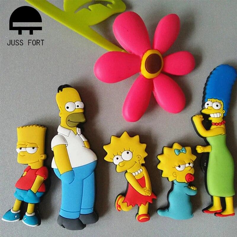 Homer Simpson cartoon creative fridge magnet early education decorative refrigerator Sticker home de