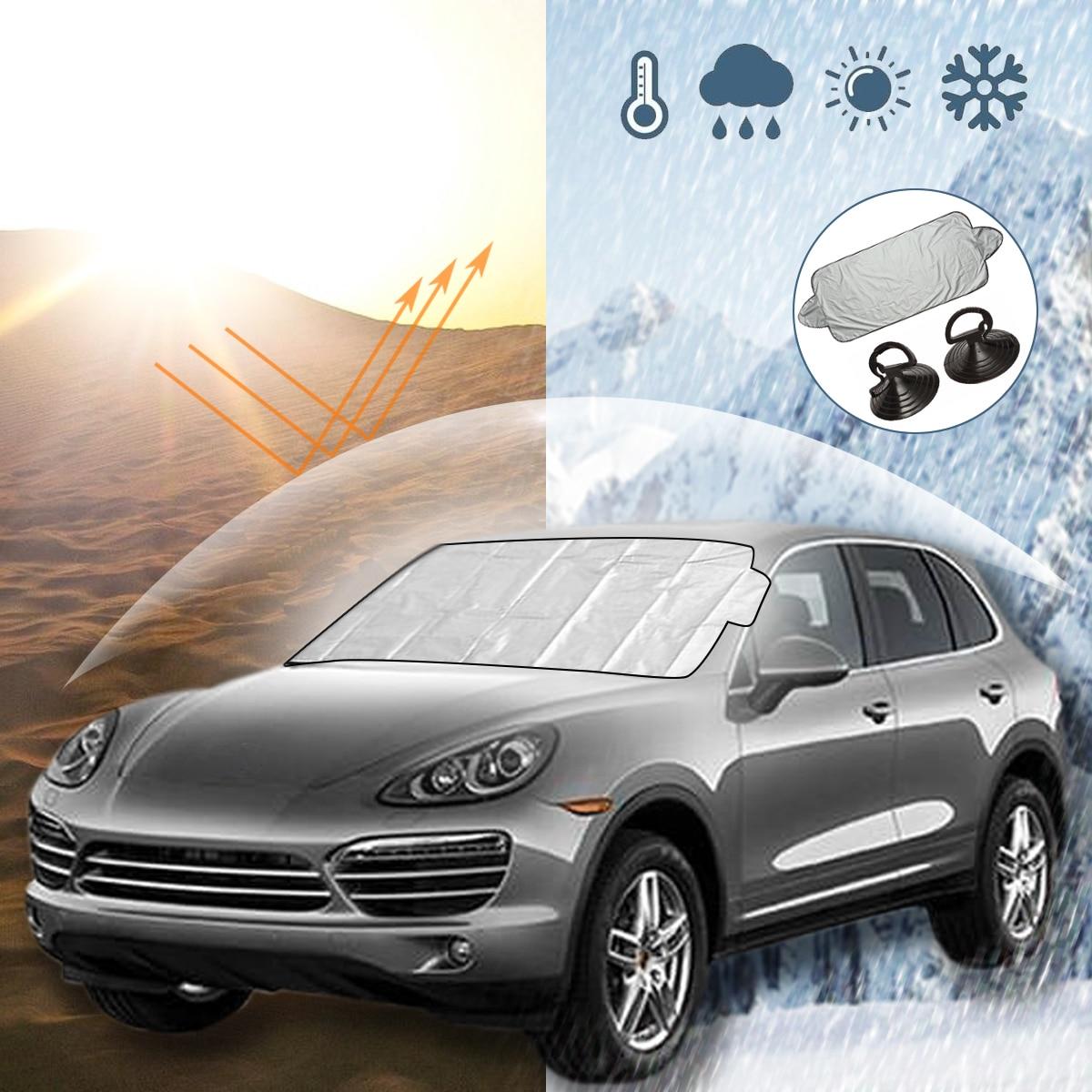 Universal Car Sunshade Cover Front Car Windscreen Cover Sun Shade Rain Ice Snow Protector Anti Sun UV Heat Protector
