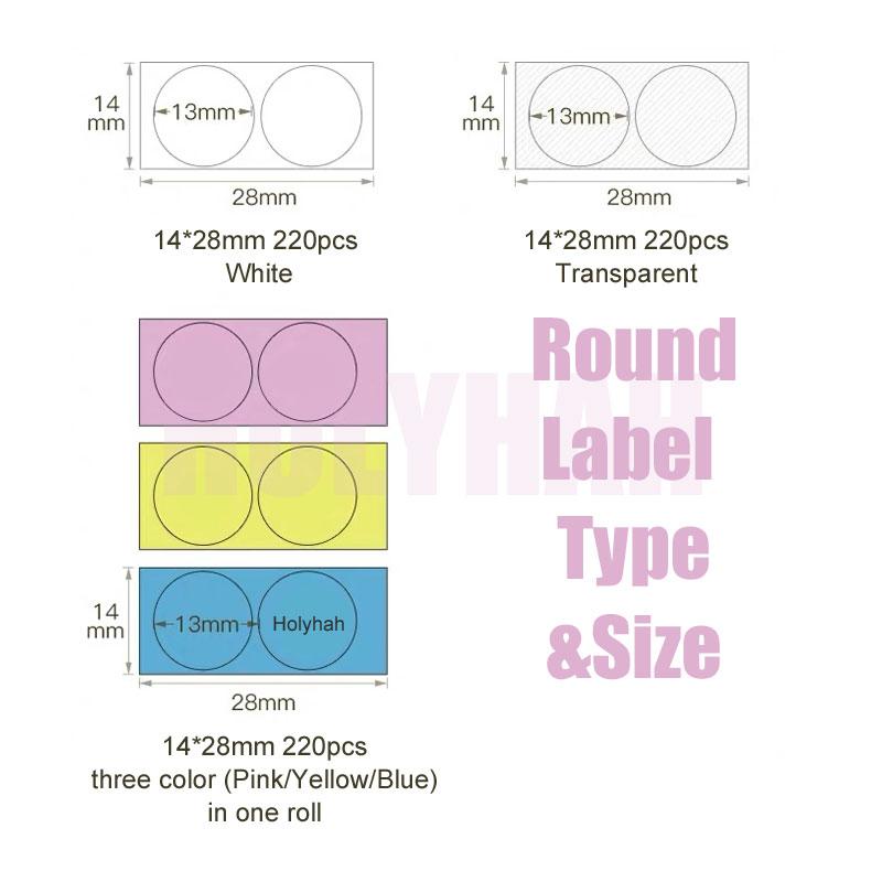 niimbot-impresora-termica-d11-redonda-papel-adhesivo-de-etiqueta-color-blanco-transparente-resistente-al-agua-13mm-compre-5-y-obtenga-30-de-descuento