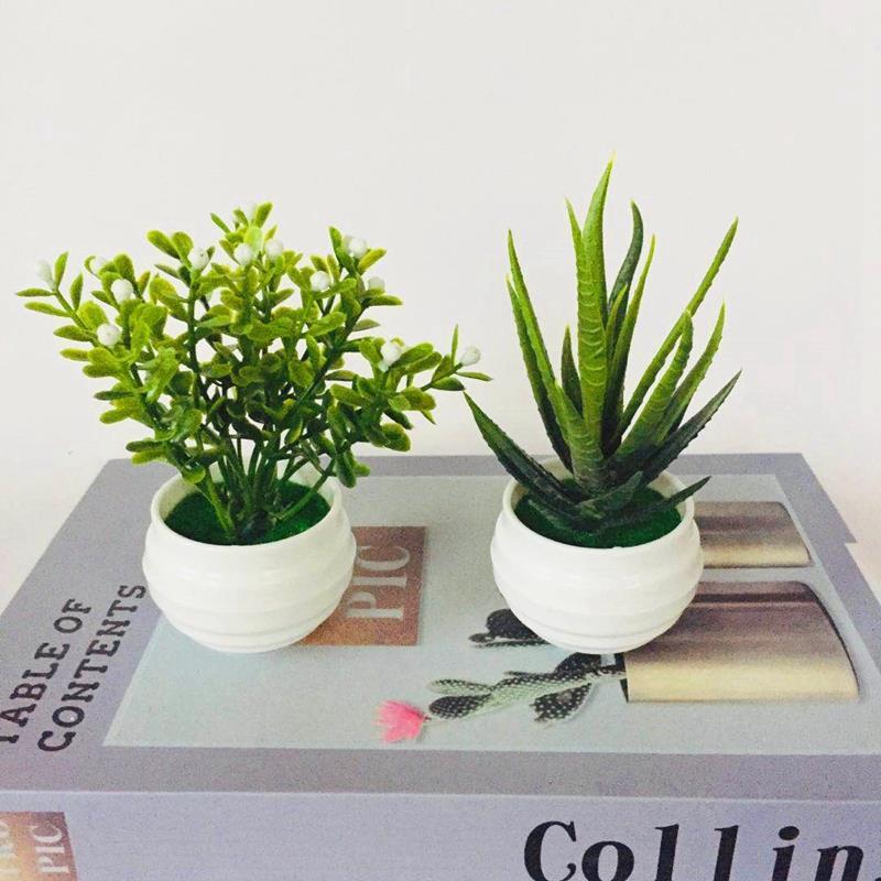 Мини-искусственные растения, бонсай, Маленькие искусственные деревья, горшки, искусственные цветы, офисный стол, искусственный Декор для до...