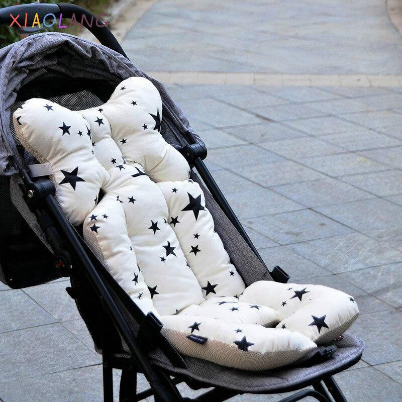 Almohadilla gruesa para carrito de bebé, cojín para silla con estampado, cojín para silla de paseo, asiento suave para niños, carrito cálido, cojín acolchado, almohada