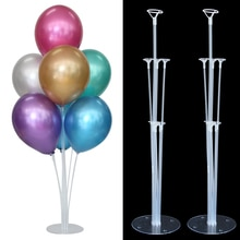 1 Set 7 Tubes Balloons Stand Balloon Holder Display Confetti Balloons Baby Shower Kids Birthday Part