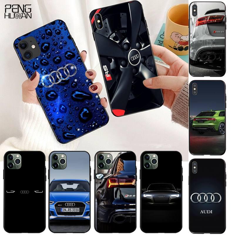 HPCHCJHM audi RS sports car Custom Photo Soft Phone Case for iPhone 11 pro XS MAX 8 7 6 6S Plus X 5S SE 2020 XR case