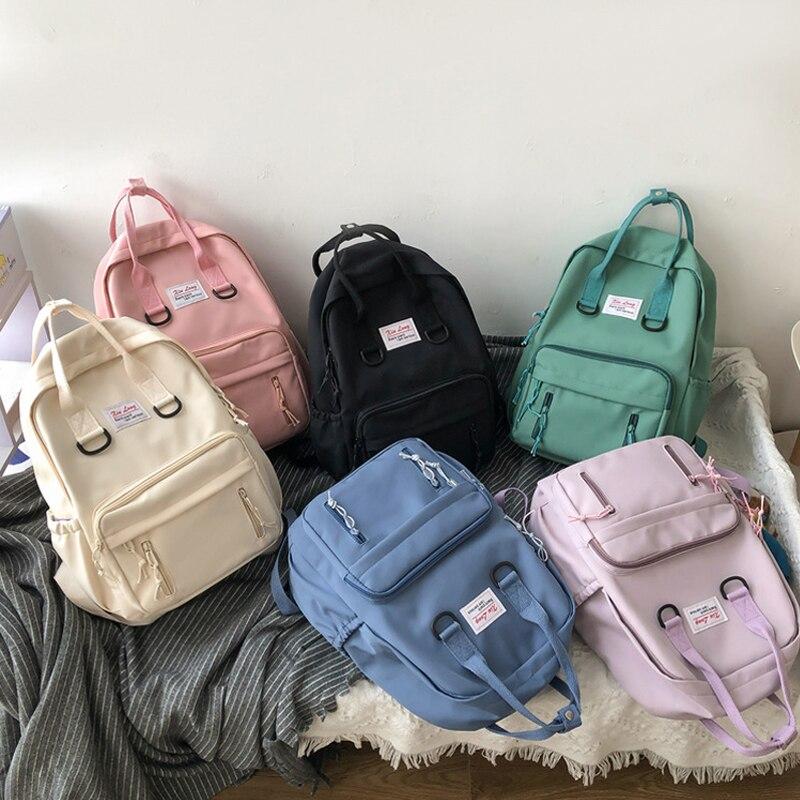 New Kawaii Student Bookbag Colorful Backpack Women Waterproof Rucksack for Teen Girls School Bag Mochilas