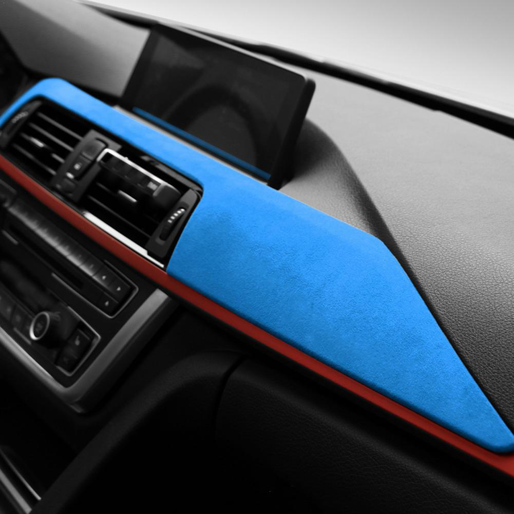 Suede Interior Car Dashboard Decoration Panel Trim Cover Stickers Decor For BMW F30 F31 F32 F34 F36 3GT 3 4 Series 2013-2019 enlarge