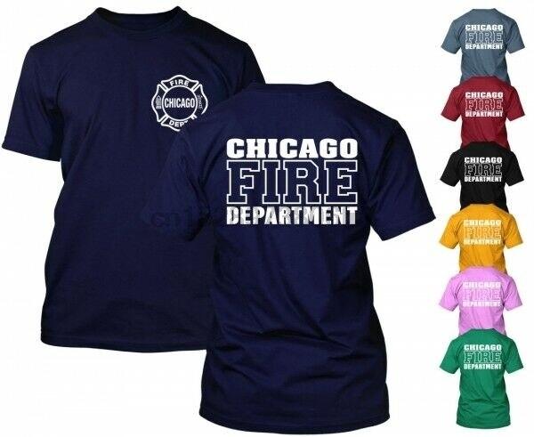Chicago Fire Department t-Shirt Duty Shirt tv Show Rescue Выберите свой цвет короткий (1)